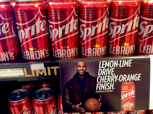 LeBron James Sprite Cans