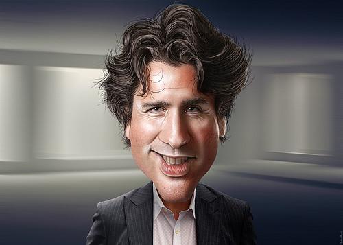 Justin Trudea caricature