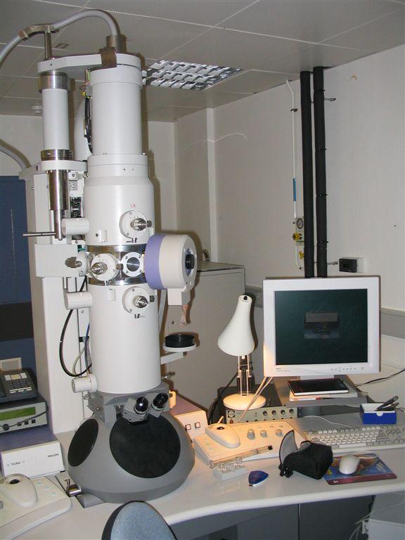 An electron microscope