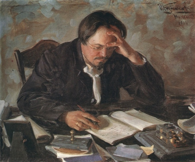 A Painting of Russian writer Evgeny Chirikov