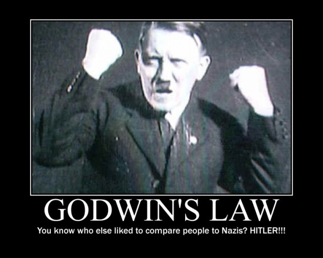 Hitler probably did compare people to Nazis....