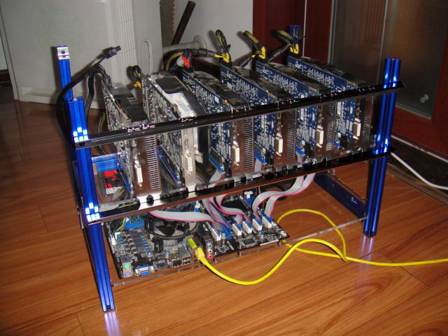 Cryptocurrency mining graphic cards