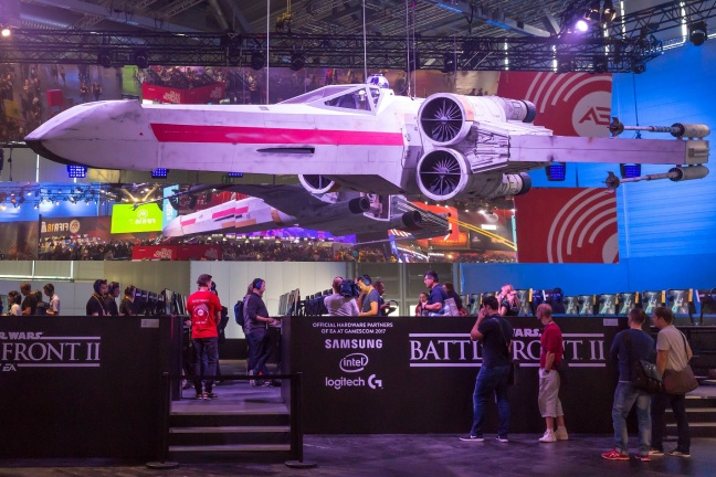 Battlefront II promotions at a gaming convention