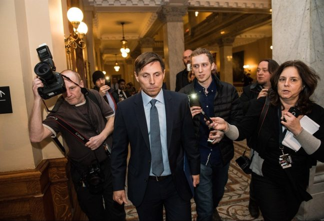 Patrick Brown leaving Queen's Park